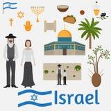 Звезда белизны черноты иудаизма Израиля символа иллюстрации вектора значка Дэвида Стоковые Фотографии RF