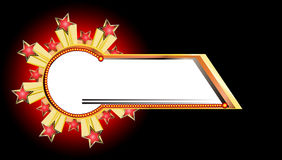 звезда взрыва знамени Стоковая Фотография