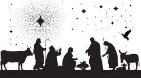звезда Вифлеема Стоковое Изображение RF