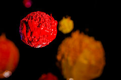 Звезда в вселенной глубокий космос чернил пластизоля Стоковая Фотография RF