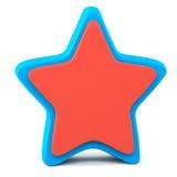 Звезда голубого красного цвета Стоковое фото RF