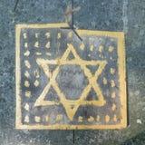 Звезда Давида в еврейском кладбище в Польше Стоковое Изображение RF