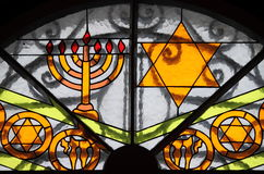 Звезда Давида и Menorah Стоковые Изображения