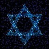 звезда Давида светлая Стоковое Изображение RF