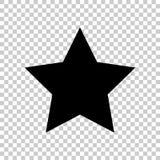 Звезда значка вектора Плоский значок иллюстрация вектора