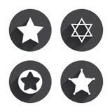 Звезда значков Дэвида символ Израиля Стоковое Изображение