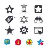 Звезда значков Дэвида символ Израиля Стоковые Фото