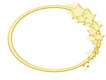 звезда золота рамки зимняя Стоковые Фото