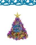 Звезда золота и сусаль рождества Стоковое Изображение RF