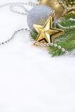 Звезда золота и украшения рождества Стоковое фото RF
