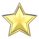 звезда золота иллюстрации 3D Стоковые Фото