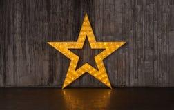 Звезда золота фото с светами Стоковое Фото