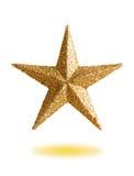 Звезда золота для того чтобы украсить рождественскую елку Стоковые Фотографии RF