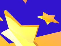 Звезда золота Стоковые Фотографии RF