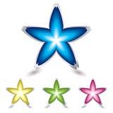 звезда иконы цветка Стоковая Фотография
