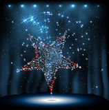 Звезда диско на предпосылке ночи Стоковое Изображение