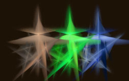 Звезда и лучи фрактали зеленые иллюстрация вектора