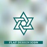 звезда иллюстрации 3d Давида вектор значка Стоковая Фотография RF