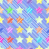 звезда картины безшовная Иллюстрация штока
