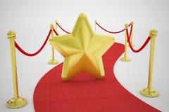 Звезда красного ковра и золота Стоковые Изображения