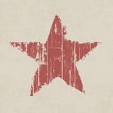 Звезда красного цвета Grunge. Стоковая Фотография