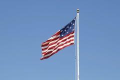 звезда нашивки 15-star 15 украшать флаг знамени американский стоковые фотографии rf