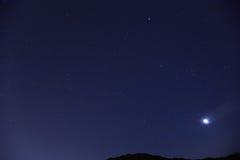 Звезда на ночном небе Стоковое Изображение RF