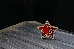 Звезда на старой таблице Стоковые Фотографии RF