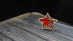 Звезда на старой таблице Стоковое Фото