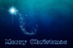 Звезда неба рождества Вифлеема Стоковые Изображения RF
