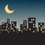 Звезда ночи городка Стоковые Изображения