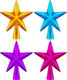 звезда ночи изображения фрактали рождества Стоковое фото RF