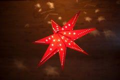 звезда ночи изображения фрактали рождества Стоковое Изображение