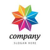 Звезда цветка логоса спектральная Стоковая Фотография