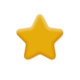 Звезда ответной части желтая иллюстрация вектора