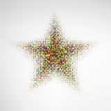 Звезда полутонового изображения цвета Стоковая Фотография