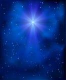 Звезда рождества в небе иллюстрация штока