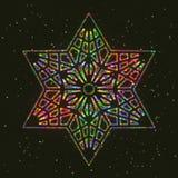 Звезда рождества накаляя красочная шестиугольная бесплатная иллюстрация
