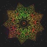 Звезда рождества накаляя праздничная красочная иллюстрация штока