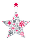 Звезда рождества снежинок иллюстрация вектора