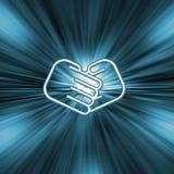 звезда рукопожатия взрыва Стоковая Фотография