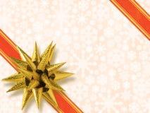 звезда смычка золотистая форменная Стоковое Изображение RF