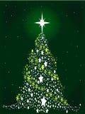 Звезда украшать рождественскую елку иллюстрация вектора