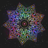 Звезда украшения Нового Года сияющая красочная иллюстрация штока