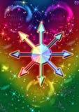 Звезда хаоса иллюстрация вектора