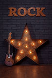 Звезда электрической гитары и утюга Стоковая Фотография RF