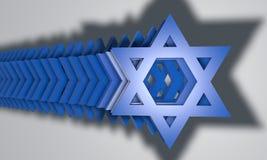 звезда 3d Давида Иллюстрация вектора
