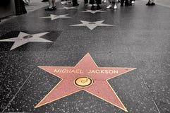 звезда jackson michael Стоковое Изображение