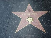 Звезда Les Baxter в hollywood стоковое фото rf