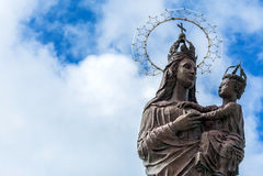 Звезда Mary статуи моря в Трапани, Италии стоковое изображение